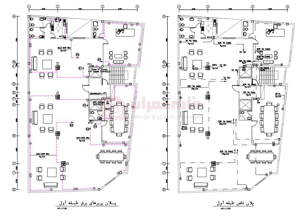 نقشه خوانی ساختمان